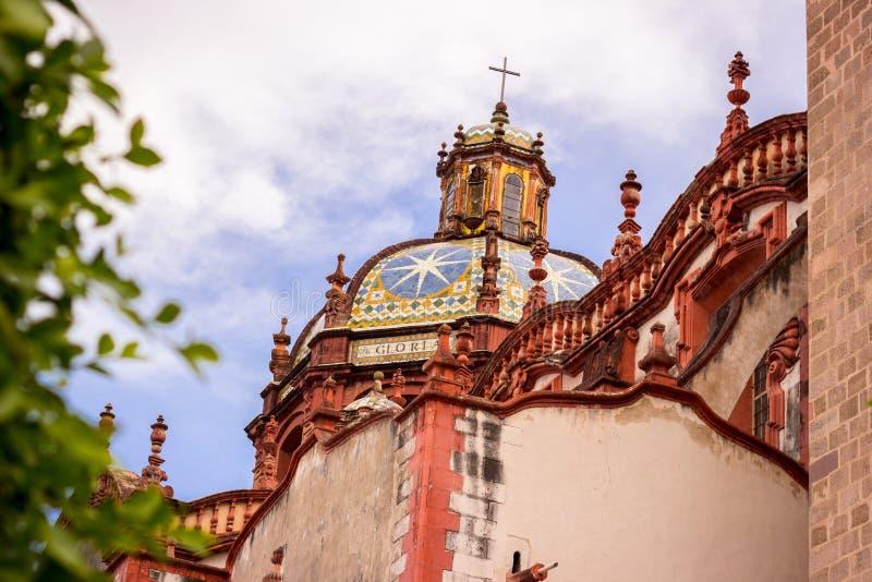 Taxco,格雷罗州教会  墨西哥 外面 免版税库存图片
