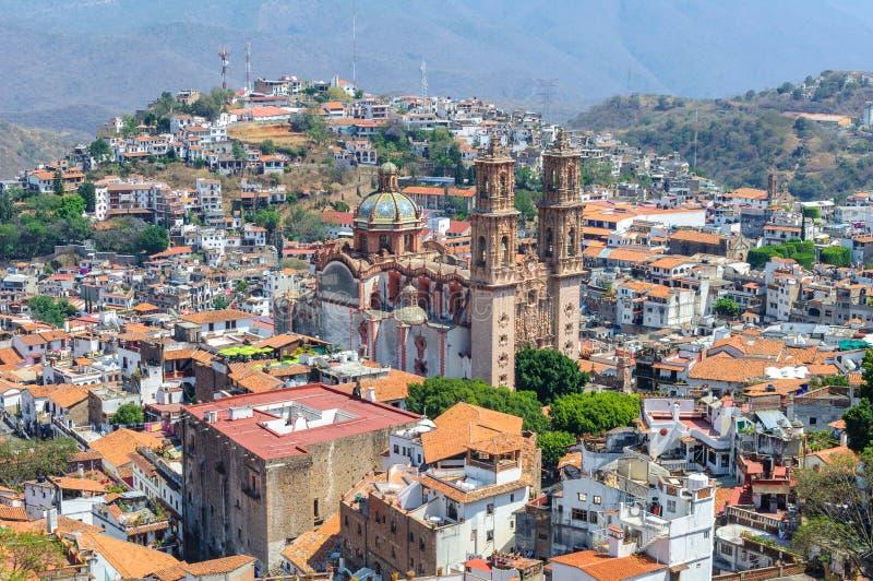Taxco de阿拉尔孔市,格雷罗州,墨西哥 库存照片