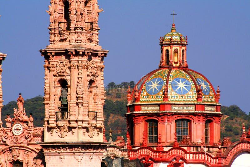 Taxco Kathedrale lizenzfreie stockfotografie