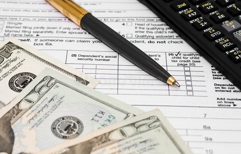 Download Taxes stock image. Image of american, calculator, cash - 8828761