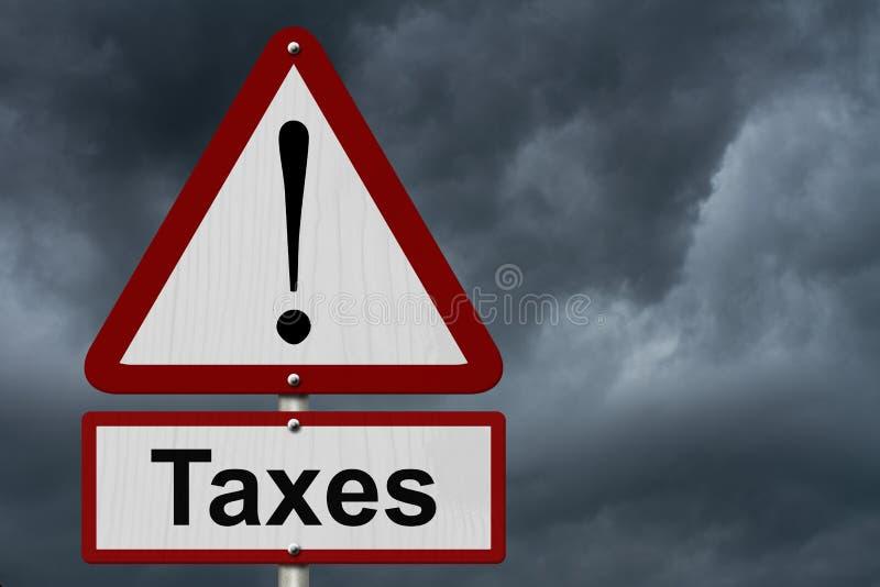 Taxes Caution Sign royalty free stock photos