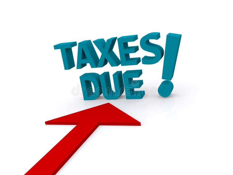 Taxes Due Graphic Design, Isolated Stock Photo - Image ...