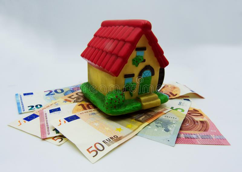 Taxes and mortgage on the house, concept royalty free stock photos