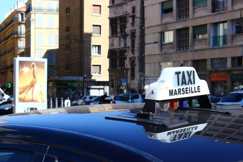 Taxi à la rue photo libre de droits