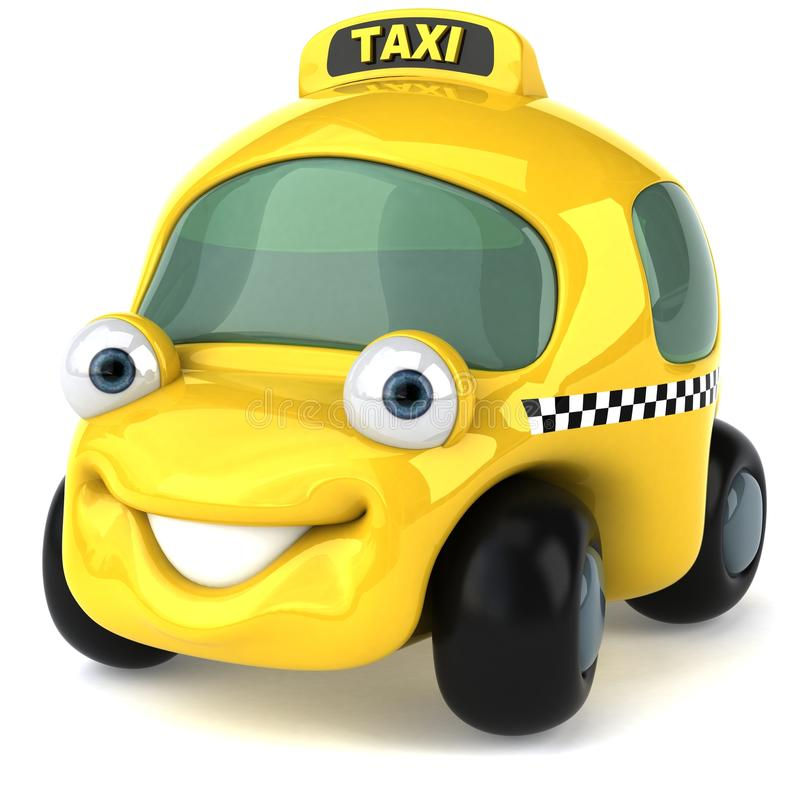 Taxi. Cute taxi car, 3d generated picture stock illustration