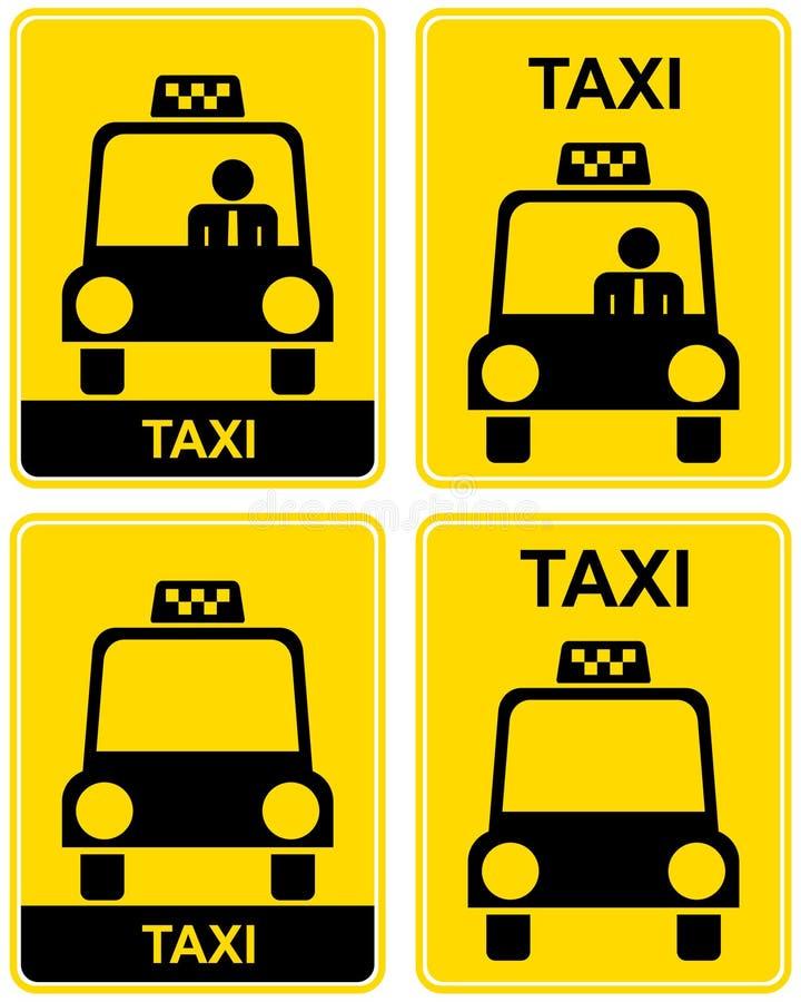 Taxi stock illustratie