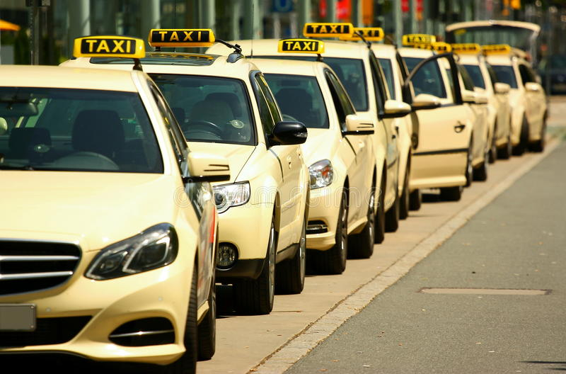 Taxi stock afbeelding