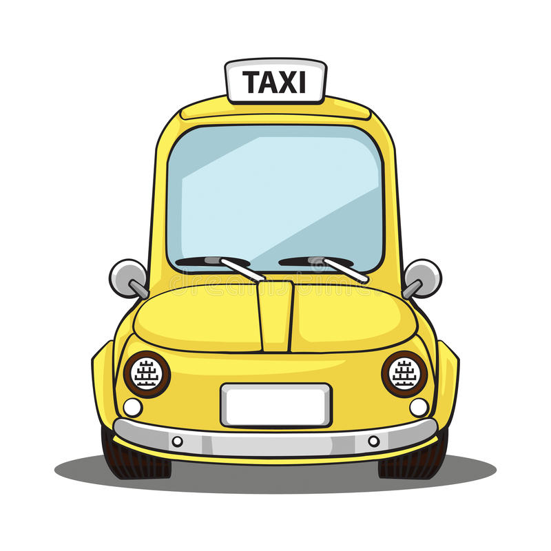 Taxi royaltyfri illustrationer