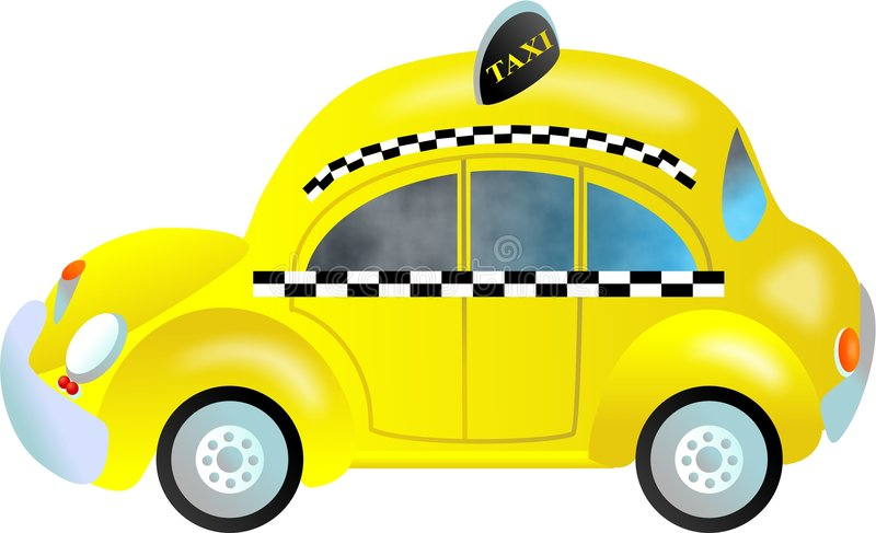 Taxi. Stylised New York City taxi cab vector illustration