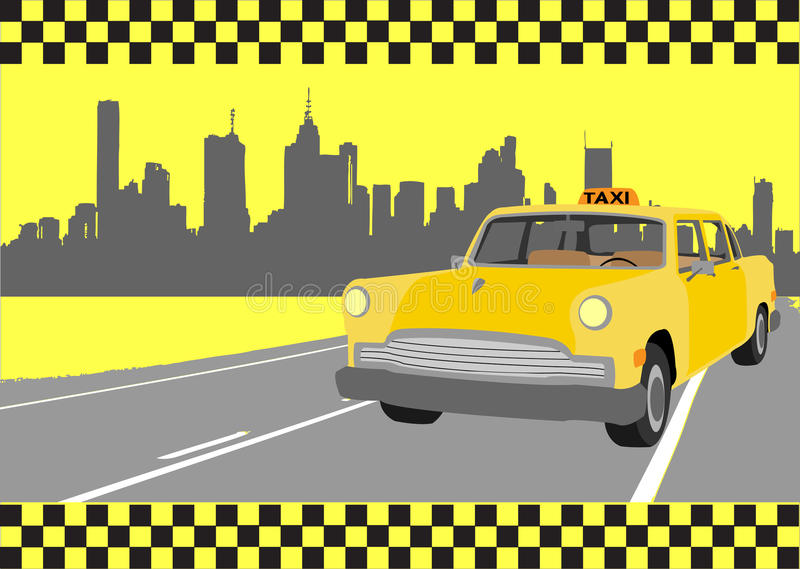 Taxi. Buisness card of taxi, vector illustration royalty free illustration