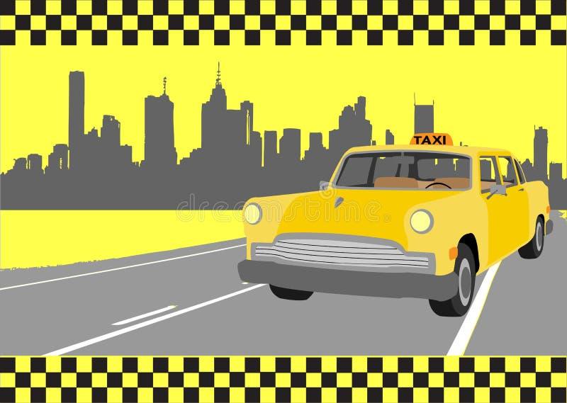 taxi royalty ilustracja