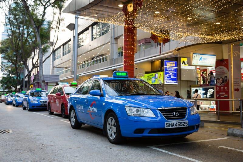 Taxi aan Boomgaardweg in Singapore royalty-vrije stock afbeelding