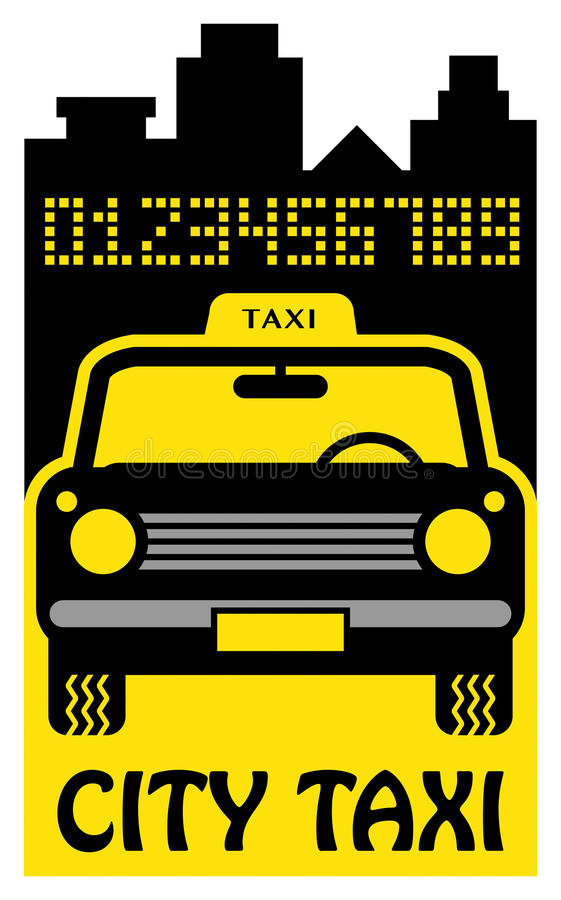 Download Taxi abstract stock vector. Illustration of deal, discount - 30395419