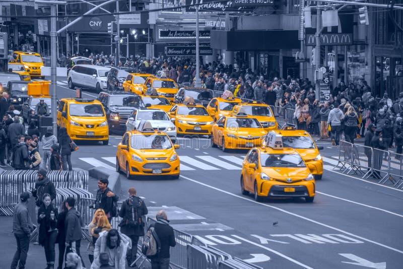 Taxi amarillo en New York City foto de archivo libre de regalías