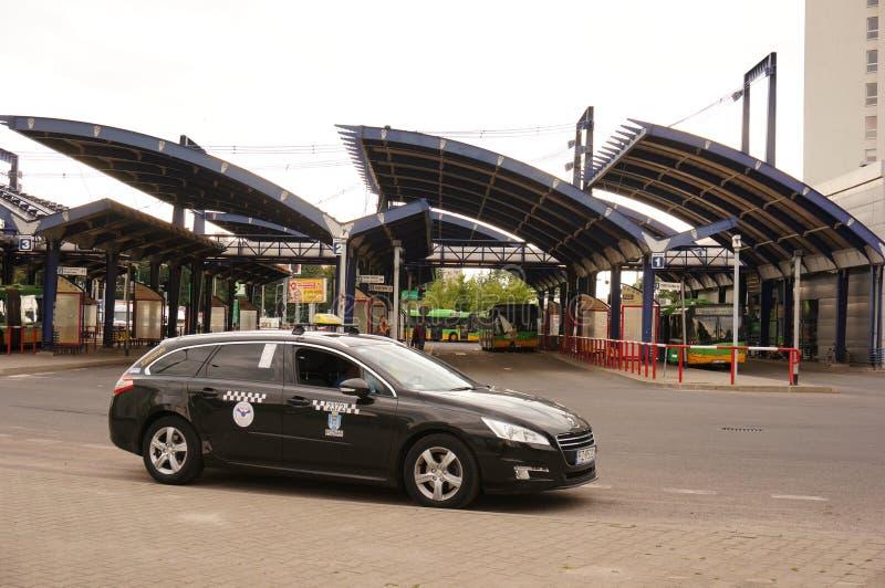 Taxi aspettante immagini stock libere da diritti