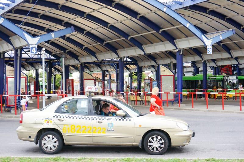 Taxi aspettante fotografia stock libera da diritti