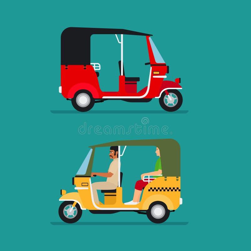 Taxi automatico asiatico del risciò royalty illustrazione gratis