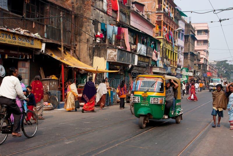 Taxi automatique privé de tuk-tuk de three-weeler de pousse-pousse image libre de droits