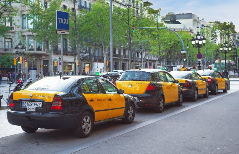 Taxi av Barcelona royaltyfri bild