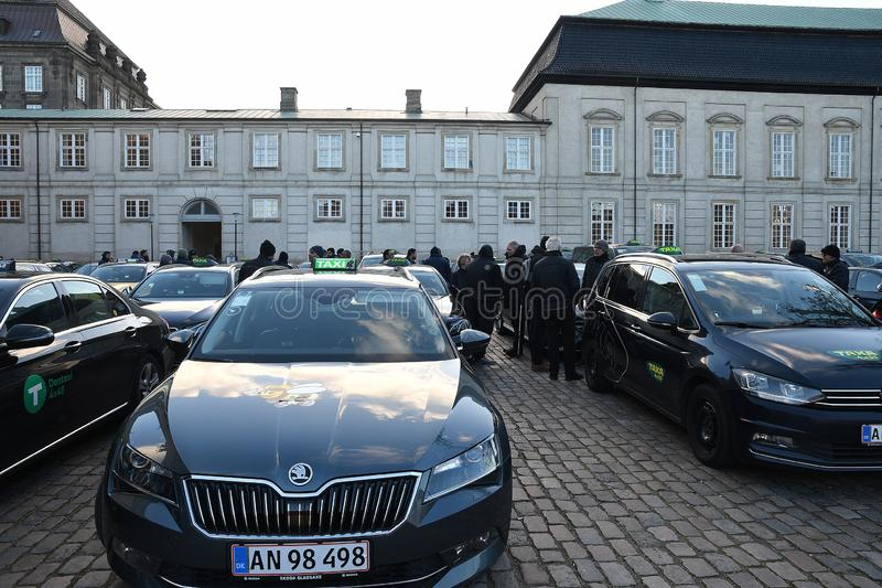 TAXI AND AXA DRIVER STAGED PROTEST RALLY stock photos