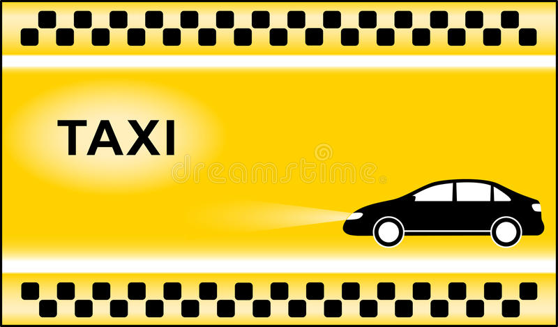 Taxi background with cab symbols light. Yellow taxi background with black cab and taxi symbol light royalty free illustration