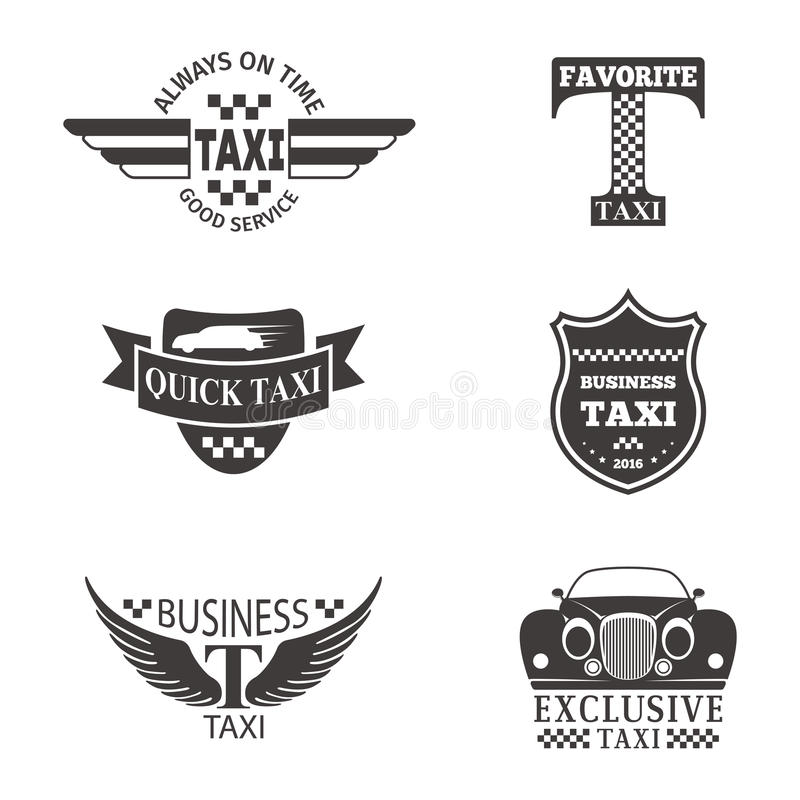 taxi badge car service business sign template vector illustration