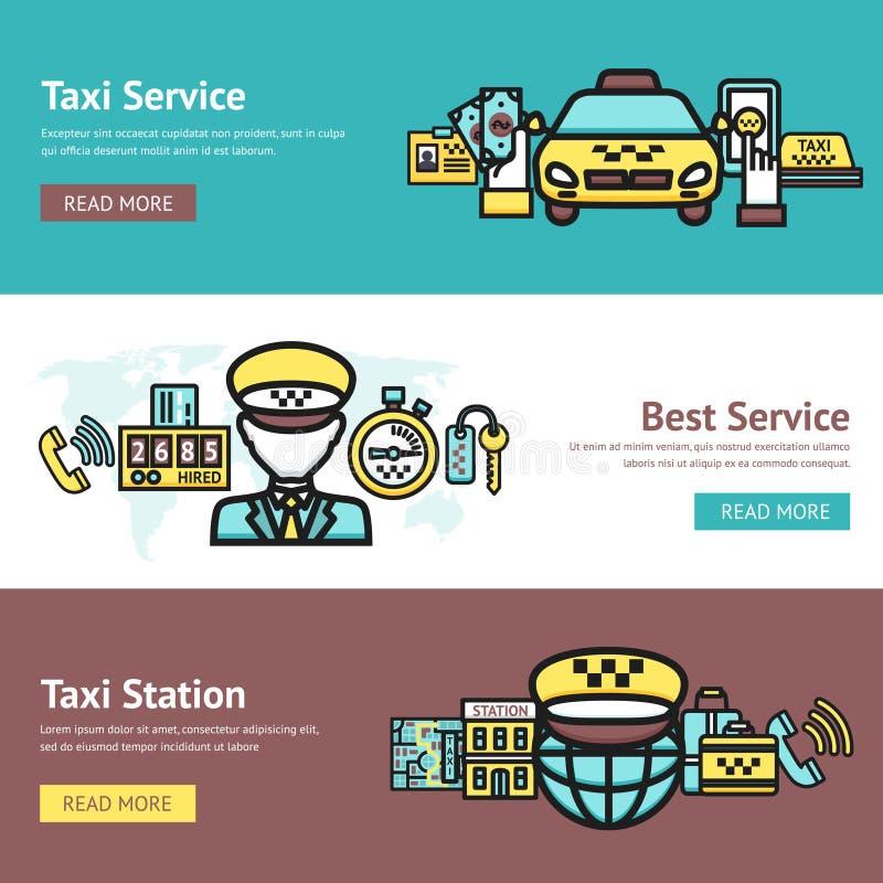 Taxi Banner Set stock illustration