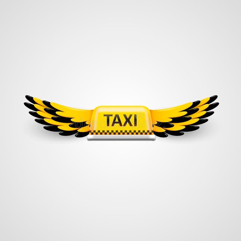 Taxi biznesu logo latający taxi pojęcie royalty ilustracja