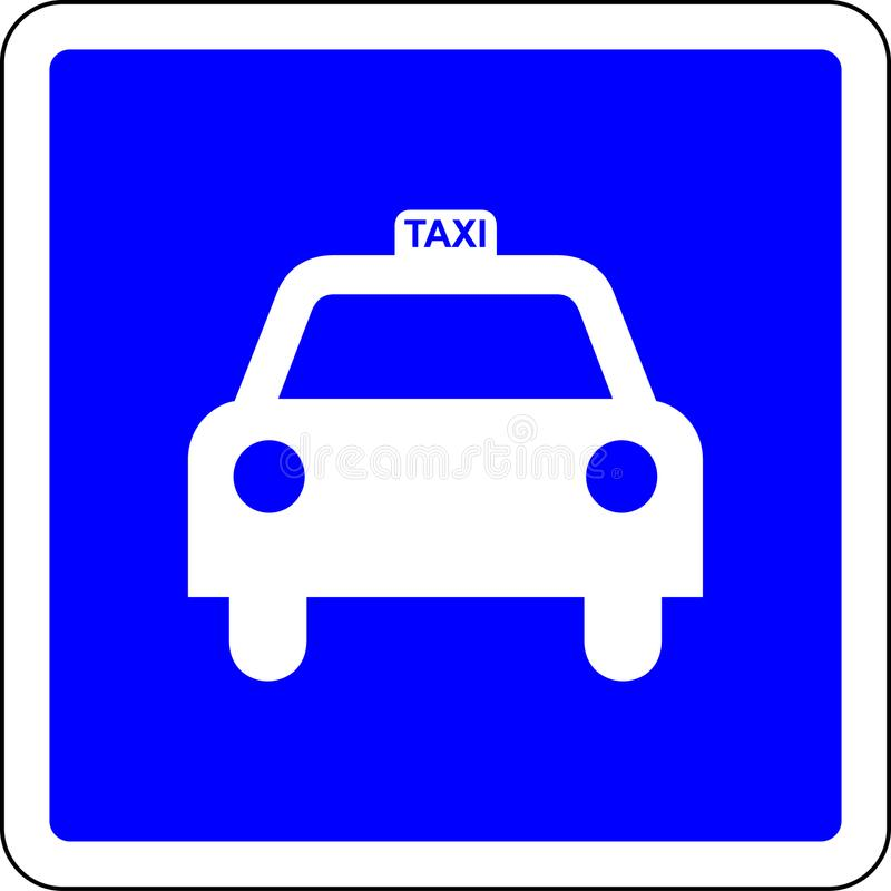 Taxi road sign. A Taxi blue road sign vector illustration