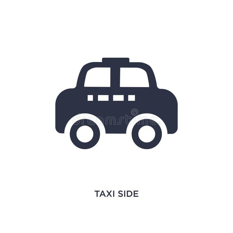 taxi boczna ikona na białym tle Prosta element ilustracja od mechanicons pojęcia royalty ilustracja