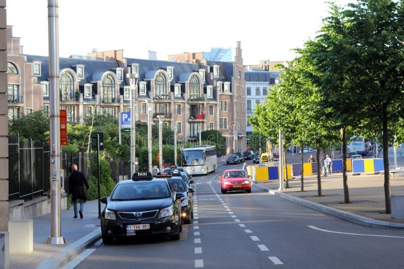 Taxi a Bruxelles, Belgio fotografia stock libera da diritti