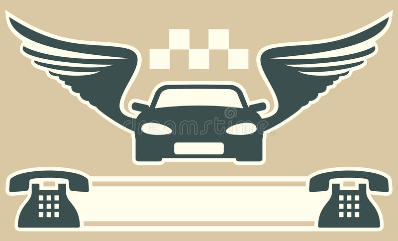 Taxi Business Card Stock Image