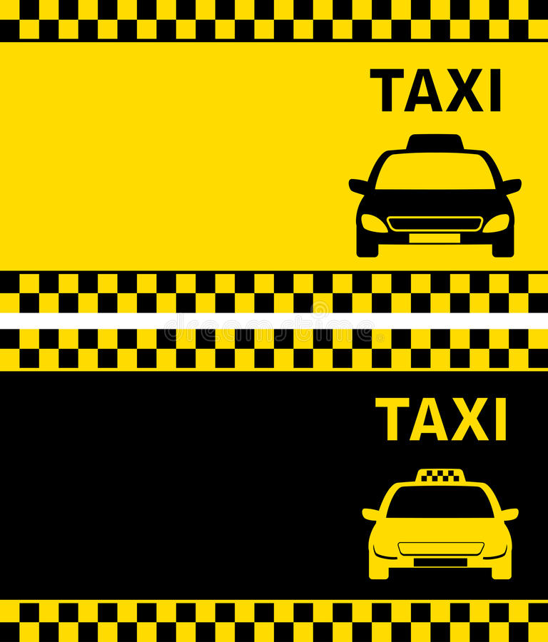 Taxi business card stock vector. Illustration of road - 33554625