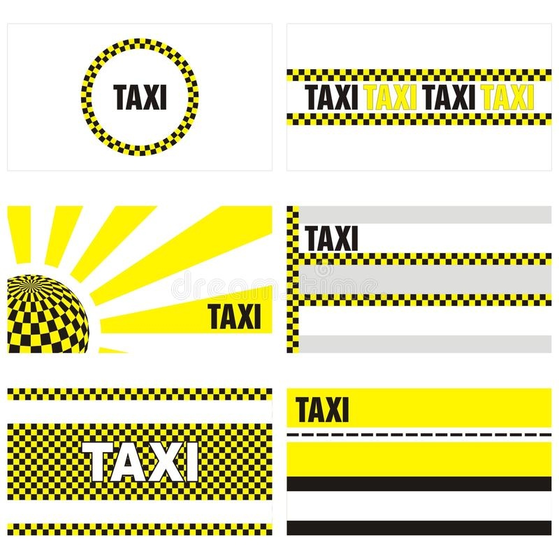 Taxi Business Cards 90 X 50 Mm Stock Illustration - Illustration of ...
