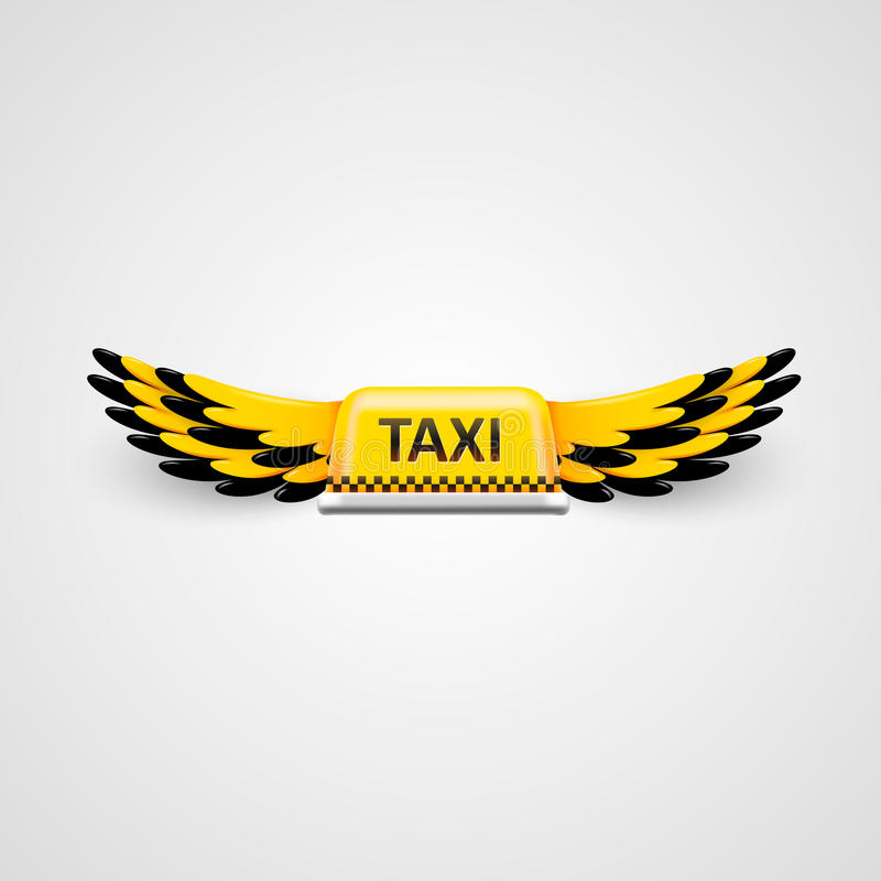 Taxi business logo. flying taxi concept. royalty free illustration