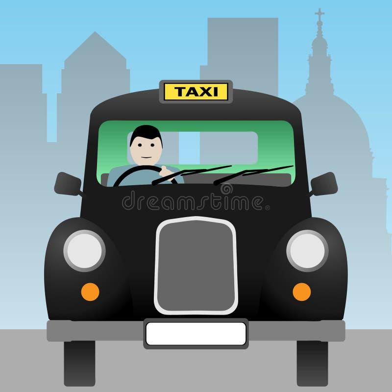 Taxi Cab. A Black London Taxi Cab royalty free illustration