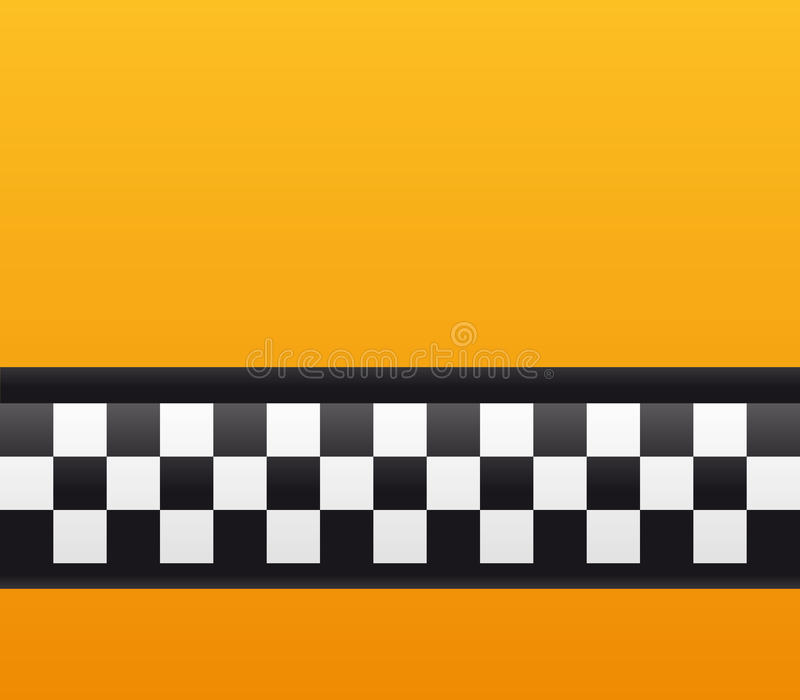 Taxi cab background. Close up of taxi cab background in NY stock illustration