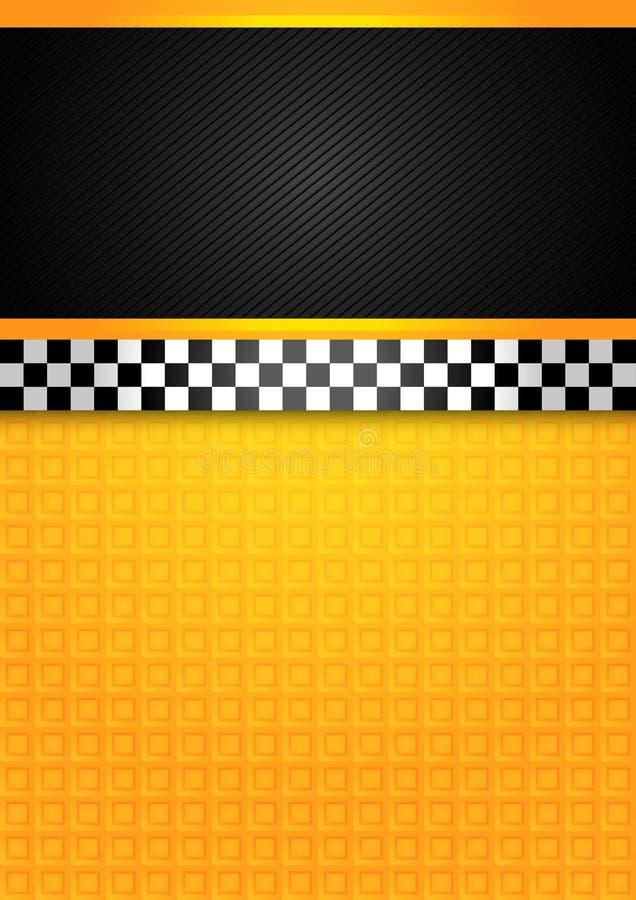Taxi cab - blank template. Vector 10eps vector illustration