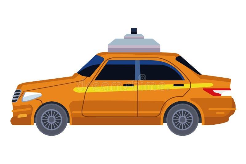 Taxi cab car icon cartoon. Vector illustration graphic design stock illustration