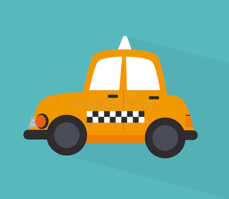 Taxi cab design. Taxi cab over blue background vector illustration stock illustration