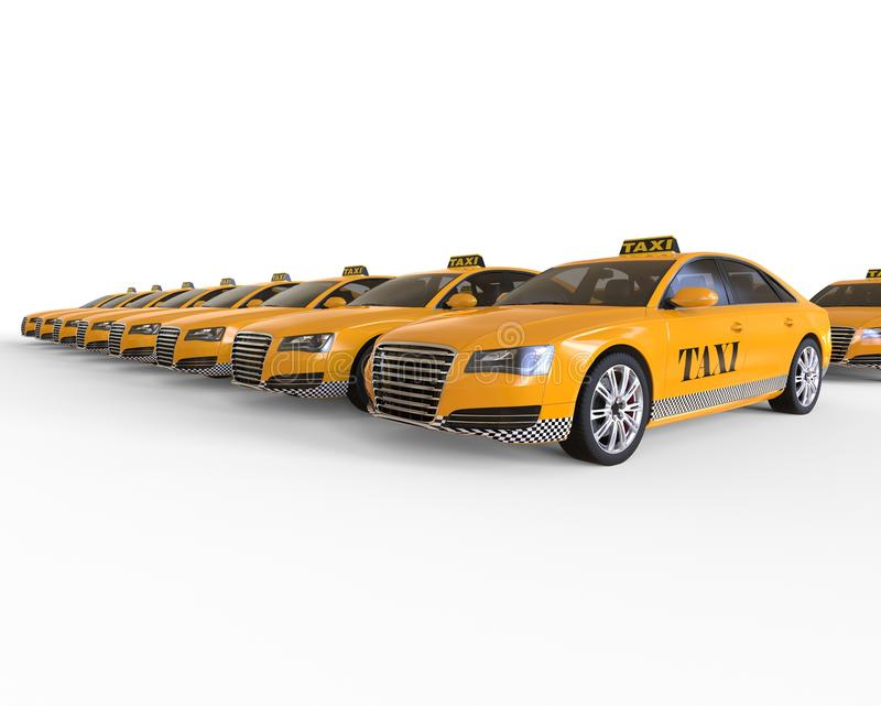Taxi Cab Row concept royalty free illustration