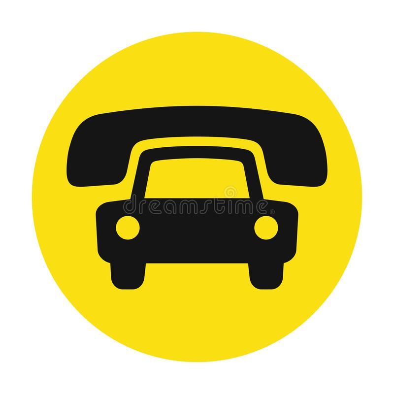 Taxi cab service icon. Cause a car by phone symbol, order taxi vector illustration vector illustration