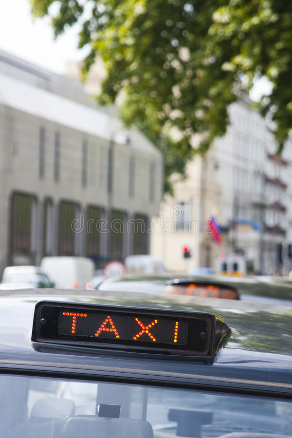 Download Taxi cab sign stock photo. Image of black, roof, transport - 20836274