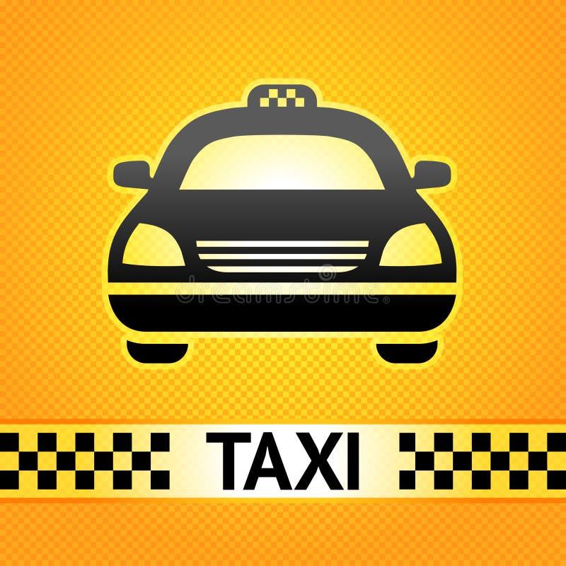 Taxi cab symbol on background. Pixel pattern vector illustration
