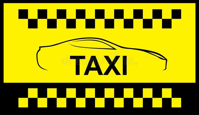 Taxi cab symbol vector illustration
