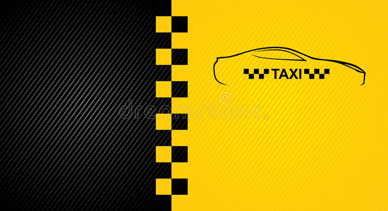 Taxi cab symbol stock illustration