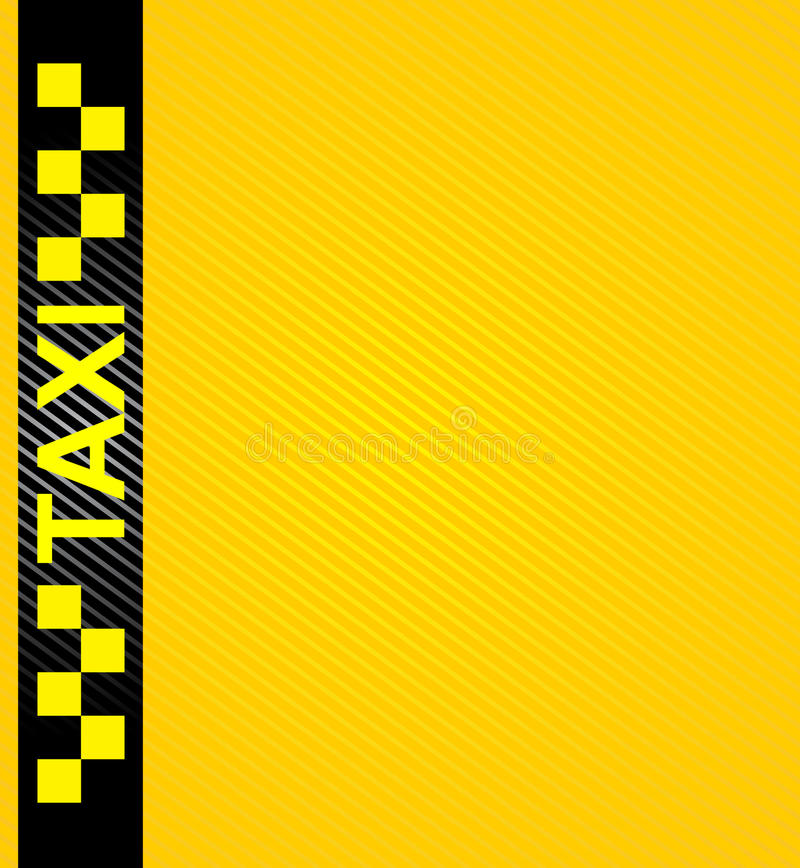 Taxi cab symbol royalty free illustration