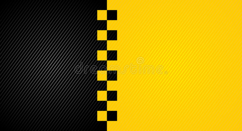 Taxi cab symbol. On background carbon pattern royalty free illustration