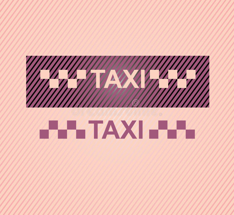Taxi vector illustration
