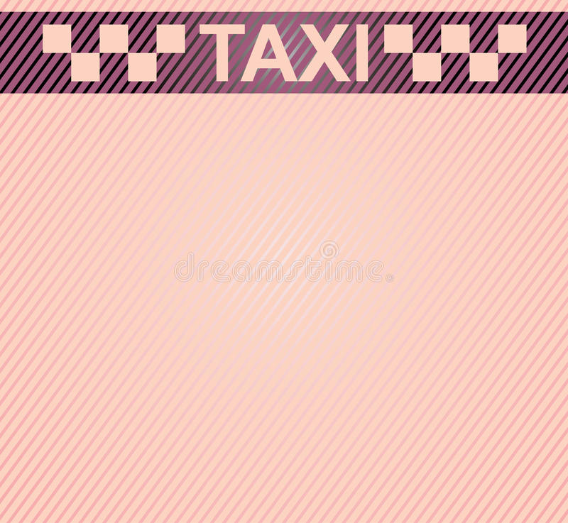 Taxi royalty free illustration